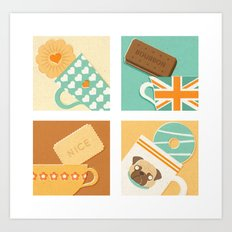 Tea and Biscuits Art Print