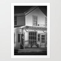 Vintage Gasoline Pump Re… Art Print