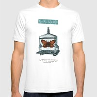 Papillon Mens Fitted Tee White SMALL