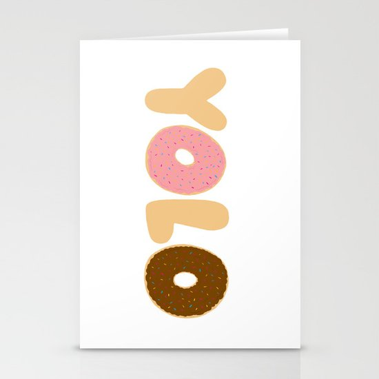 YOLO Donuts Stationery Card