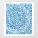 Blueberry Lace Art Print