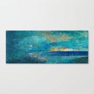Canvas Print featuring La Playa by Fernando Vieira