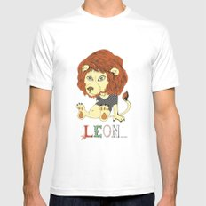Leon Mens Fitted Tee White SMALL