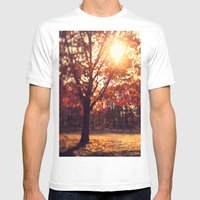 Autumn Sun  Mens Fitted Tee White SMALL