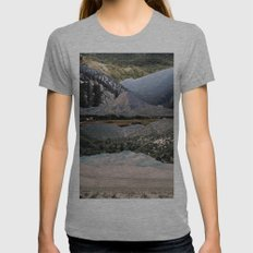 Mountains beyond mountains Womens Fitted Tee Athletic Grey SMALL