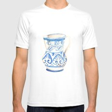 handmade ceramic SMALL Mens Fitted Tee White