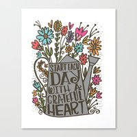 GRATEFUL HEART Canvas Print