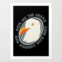 Eat like a seagull Art Print