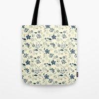 C13 birds n flowers Tote Bag