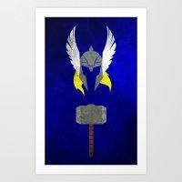 God Of Thunder Art Print
