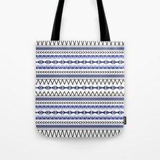 Tribal Blue Tote Bag