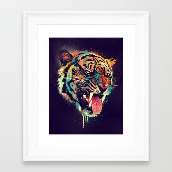 FEROCIOUS TIGER Framed Art Print