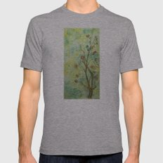Branch with flowers Mens Fitted Tee Athletic Grey SMALL