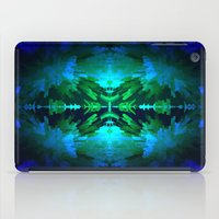 Blue columns in Abstract iPad Case
