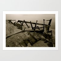 Light House Remains Art Print