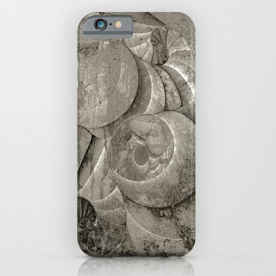 Fossilized Shells - Black & White iPhone & iPod Case