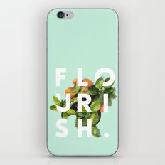 Flourish #society6 #buyart #typography #artprint iPhone & iPod Skin