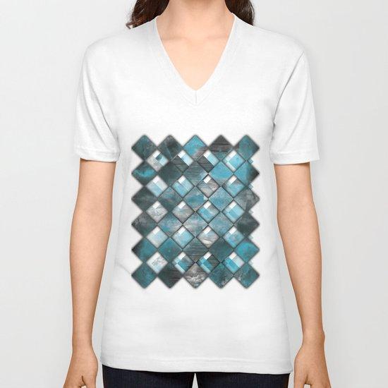 SquareTracts V-neck T-shirt