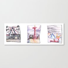 Coney Island Trio  Canvas Print