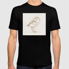 Piping Plover Chick Mens Fitted Tee Black SMALL