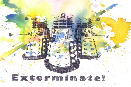 Daleks From Doctor Who Art Print