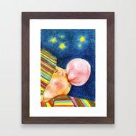 Self Bubble Framed Art Print