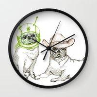 Cowboys & Aliens Wall Clock