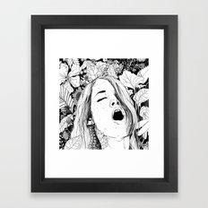 Floral Orgasm Framed Art Print