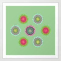transparent floral pattern 4 Art Print