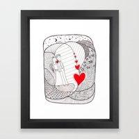 Enamorados En El Sueño … Framed Art Print