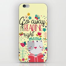 Reading Right Meow iPhone & iPod Skin
