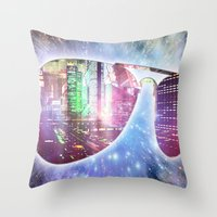 The city, the stars, and the avie shades. Throw Pillow