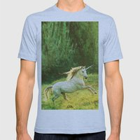 Horsey Business. Mens Fitted Tee Athletic Blue SMALL