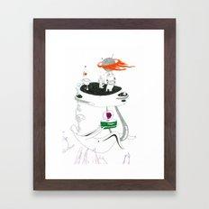 VACANCY Zine - A Dangerous Bedroom Framed Art Print