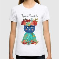 Frida Cathlo Womens Fitted Tee Ash Grey SMALL