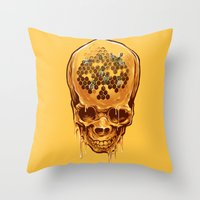 skull of honey Throw Pillow