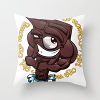 Brown Hunk Chocolate  Throw Pillow