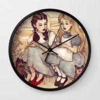Dorothy and Alice Wall Clock