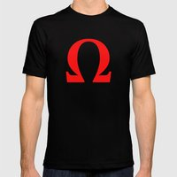 Ω omega Mens Fitted Tee Black SMALL