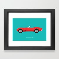 Chevrolet Corvette 1968 Framed Art Print