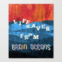 Brain Oceans Canvas Print