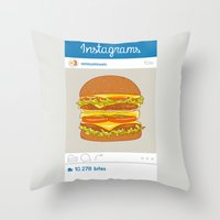 Instagrams Throw Pillow