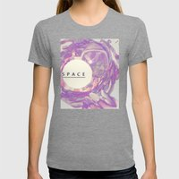Space Womens Fitted Tee Tri-Grey SMALL