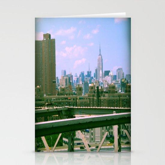 Manhattan from the BK bridge Stationery Card