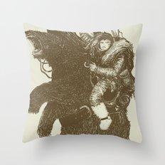 Bearpoleon Throw Pillow