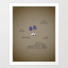 van-based journey Art Print