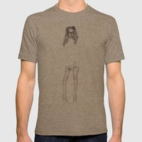 No.1 Fashion Illustration Series Mens Fitted Tee Tri-Coffee SMALL