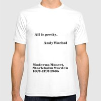 WARHOL All Is Pretty Mens Fitted Tee White SMALL