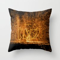 Home Made Fireworks Throw Pillow