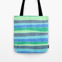 Beach Stripe (Cool) Tote Bag